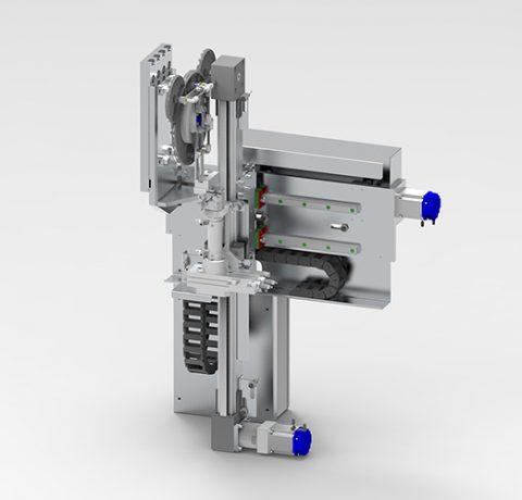 Fröccsöntő gépbe illeszthető alsó robot